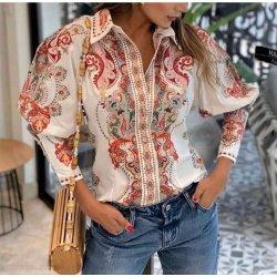 Памучна риза с щампа