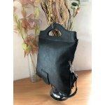 Черна чанта с две дръжки