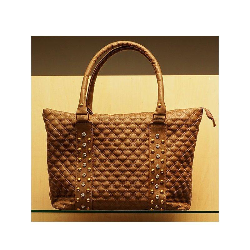 3f95e1dc4ab Дамска чанта Разпродажба от еко-кожа с камъни и капси