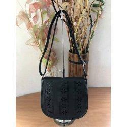 Черна чанта с дълга дръжка