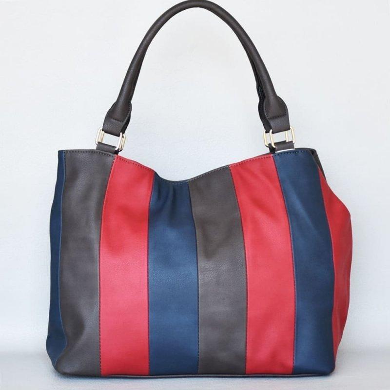 427c1644890 Чанта през рамо цветна от еко-кожа