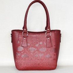 Елегантна дамска чанта бордо