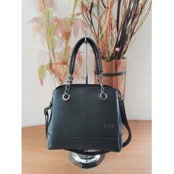Малка черна чанта с вериги