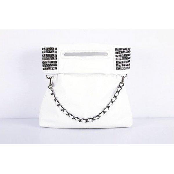 Бяла чанта Dakian White