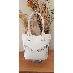 Бяла чанта с две дръжки