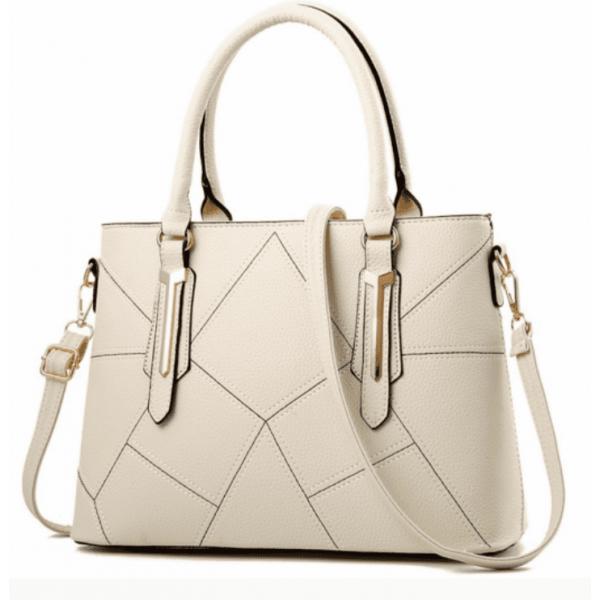 Бяла чанта Figure White