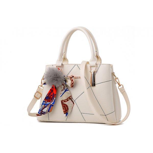 Дамска чанта екрю