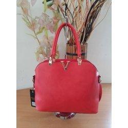Червена чанта с две дръжки