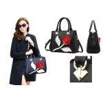 Дамска чанта 3D Rose Black