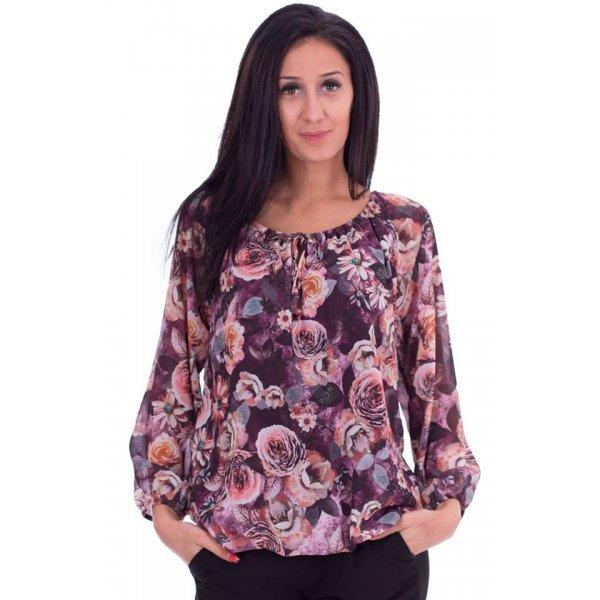 Шифонена блузка цветя
