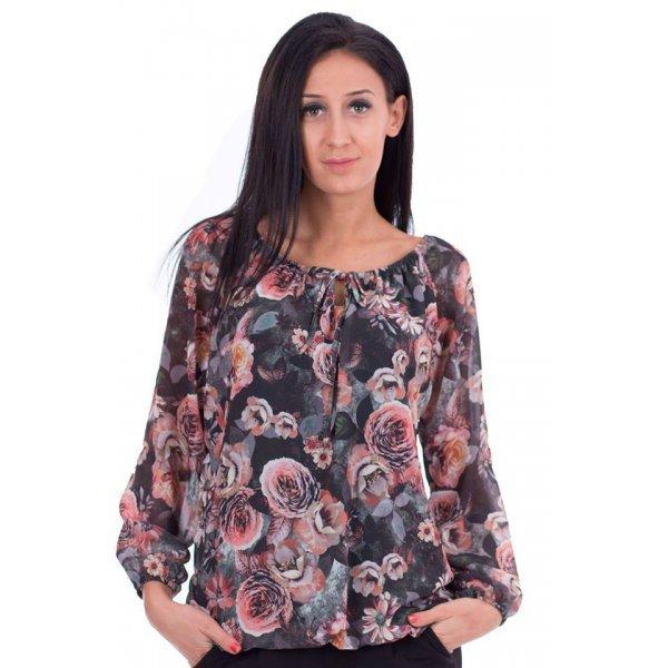 Блузка на цветя от шифон