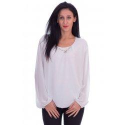 Бяла блуза шифон