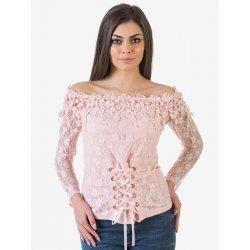 Дантелена розова блузка