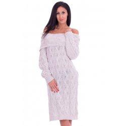 Плетена рокля бежова