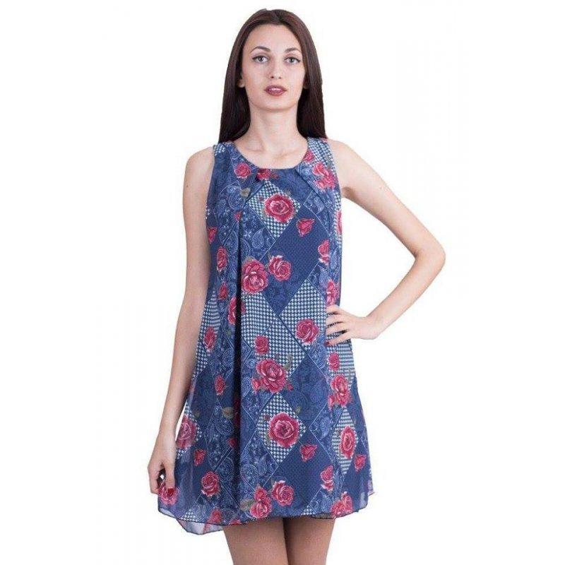 afcc5cd7c9f Шифонена рокля на цветя