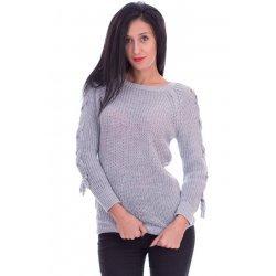 Плетена блуза с връзки