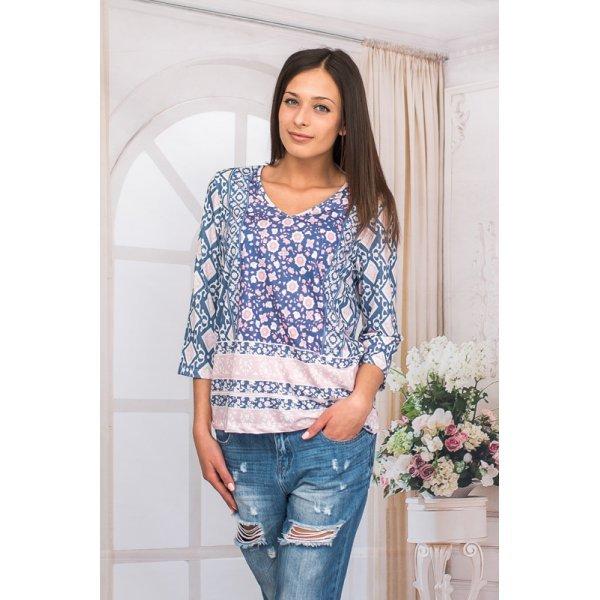 Блуза-туника с три четвърти ръкави