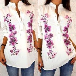 Бяла риза на цветя