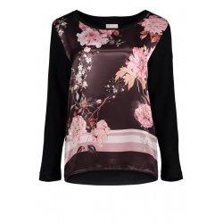 Дамска блуза със сатен