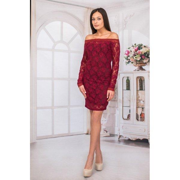 Елегантна дантелена рокля