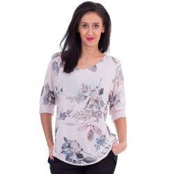 Памучна блузка на цветя