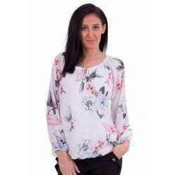 Блуза на цветя шифонена