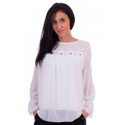 Бяла блуза от шифон