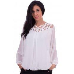 Бяла шифонена блузка