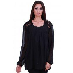 Черна блуза макси размер