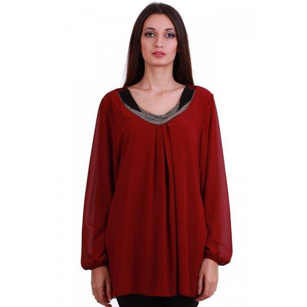 Дамска блуза бордо XL