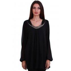 Дамска черна блуза XL