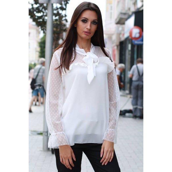 Официална бяла блуза