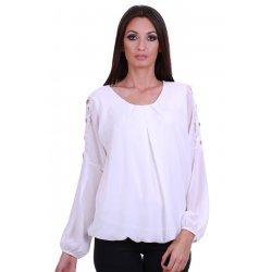Официална бяла блуза жоржет