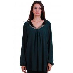Тъмно зелена официална блуза XL