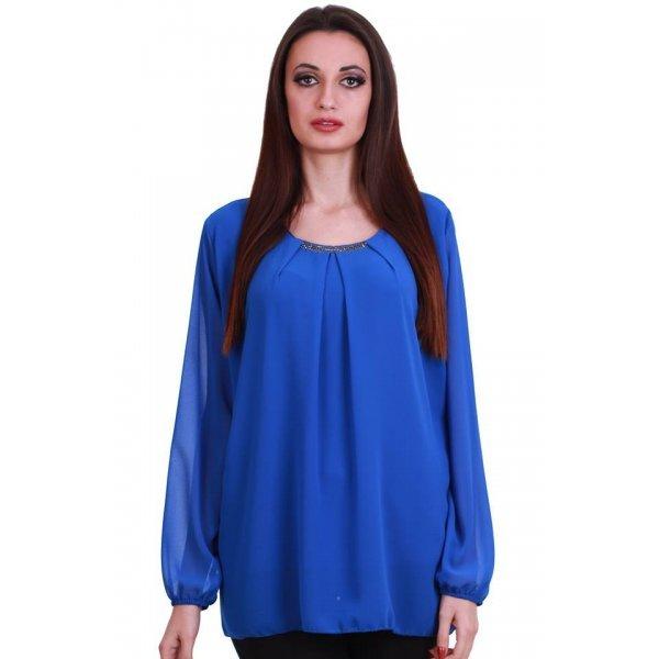 Блузка официална кралско синя