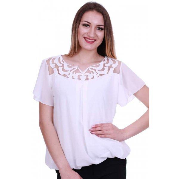 Бяла блузка официална
