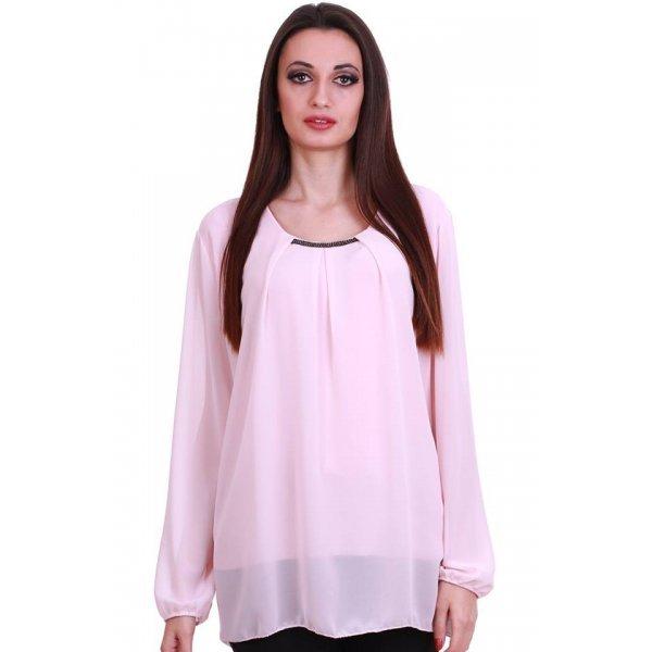 Дамска блузка бледо розова