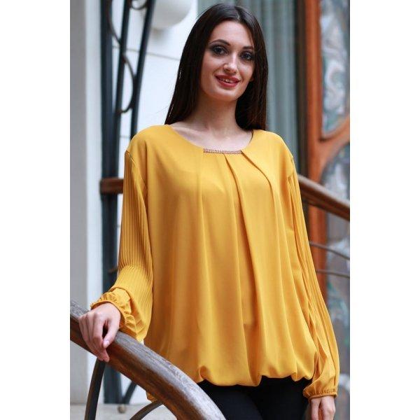 Дамска блузка горчица