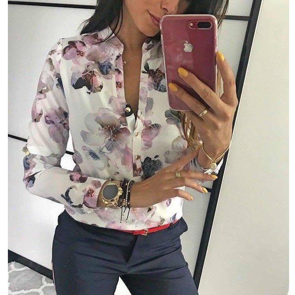 Блуза на цветя JULIA