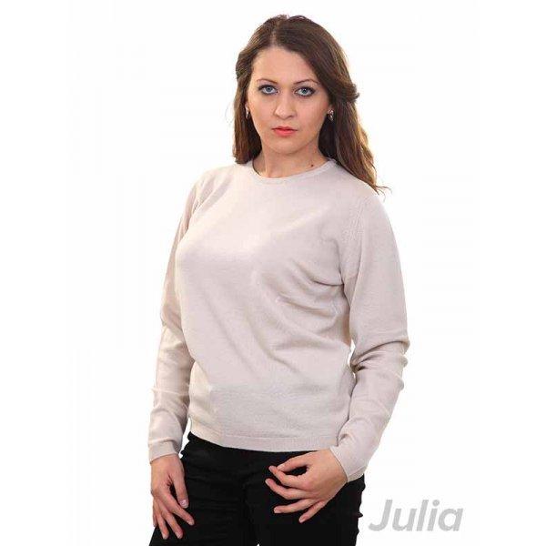 Бежова плетена блуза
