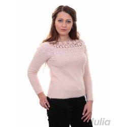 Плетена блуза с бродерия