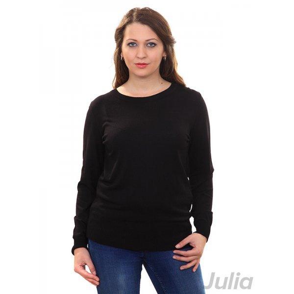 Черна блуза фино плетиво