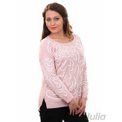 Дамска плетена блуза розова
