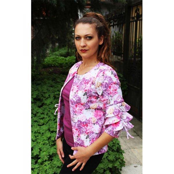 Дамско сако на цветя