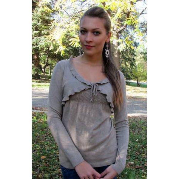 Блуза фино плетена