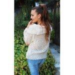 Модерен плетен пуловер