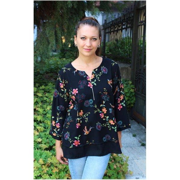 Блуза на цветя дамска