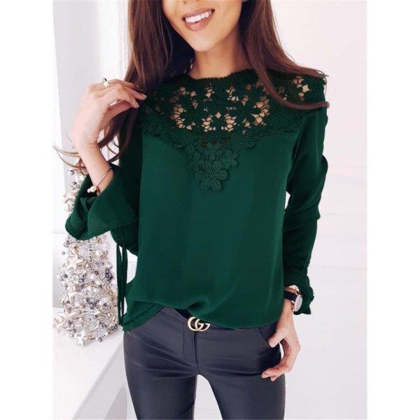 Блузка Мари зелена
