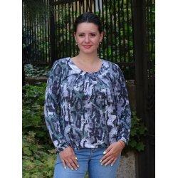 Блузка с дълъг ръкав макси