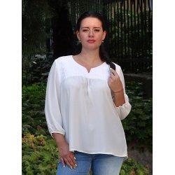 Бяла дамска блузка